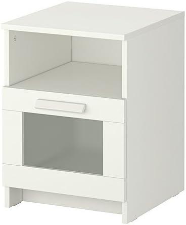 Ikea BRIMNES Mesita de Noche, Blanco - 39x41 cm: Amazon.es: Hogar