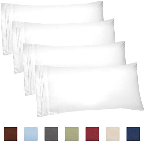 4 Pillow Cases King White product image