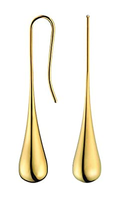 Calvin Klein Ellipse Gold Drop Earrings