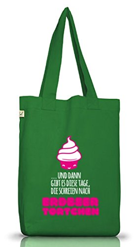 Única Plástico Musgo Bolsa Yute Street24 Tartaletas Camiseta Funda Positiva Fresas talla Verde Earth wZgPqv