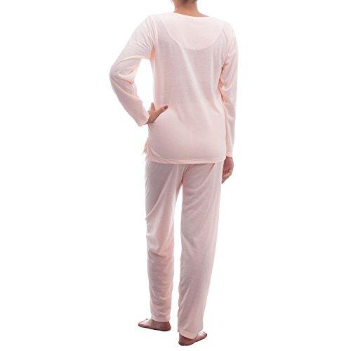 Lucky - Pijama - Básico - Manga Larga - para mujer albaricoque