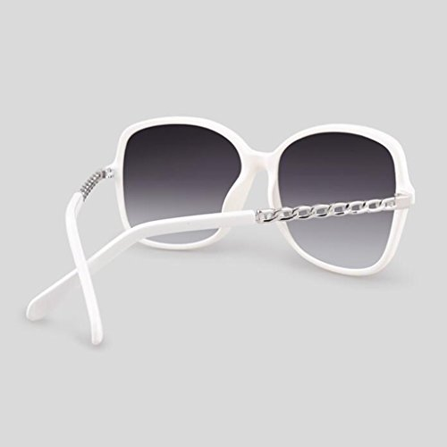 de KAI LE Cara Gafas Gafas UV Protección de de Gafas Polarizador de Gafas Sol Redonda de Nuevas Negro Sol Blanco Retro Color Femenina Femenino Sol Marea Sol de Moda BrqawBx6