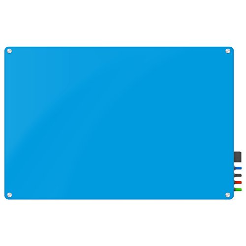 Magnetic Glass Eraser Board - Eased Corners Whiteboard by Fab Glass and Mirror (24