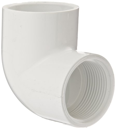 - Spears 407 Series PVC Pipe Fitting, 90 Degree Elbow, Schedule 40, White, 3/4