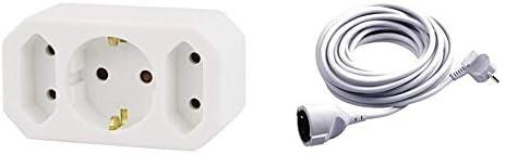Emos Ges 073 3fach Steckdosenadapter Meister Schutzkontakt Verlängerung 3 M Kabel Weiß Kunststoffleitung Ip20 Innenbereich 7432310 Baumarkt