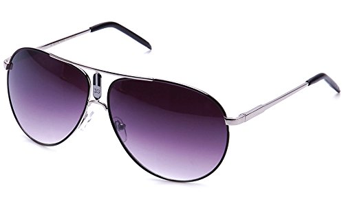 (Aviators Oversized Temple Design UV Protection Shield Lenses Pilot Style)