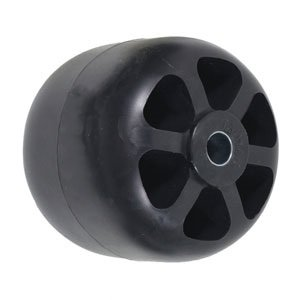 Kubota Front, Mid Mower Smooth Deck Wheel 3.875X4 Black Part No: A-B1CO109, 7655946250, 7654346250