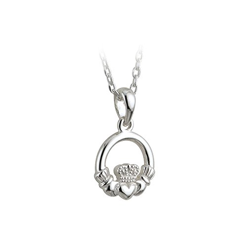 Child's Claddagh Necklace Sterling Silver Irish Made