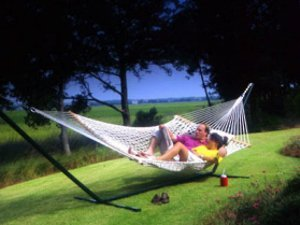 e XL Polyester Rope Hammock ()