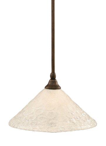 Toltec Lighting 23-BRZ-441 Stem Mini-Pendant Light Bronze Finish with Italian Glass, ()
