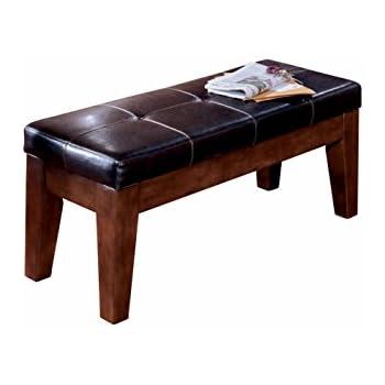 ashley furniture signature design larchmont large dining room bench upholstered vintage casual
