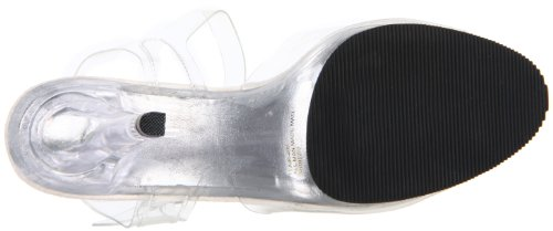 408 Strap Sandal Flair Ankle M Women's Pleaser C Clear Polyvinyl Chloride EqPnU