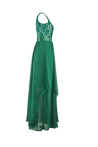 Sin mangas Color sólido vestido Vintage vestido Maxi de las mujeres DeepBlue