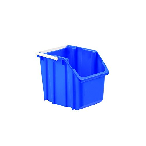 LEWISBins+ 6 GAL 215-RQ Blue ORBIS Recycling Container, HDPE, 14.9