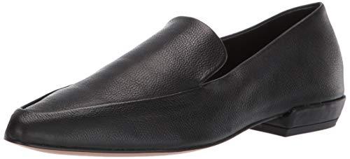 STEVEN by Steve Madden Women's Haylie Loafer, Black Leather, 7.5 M US