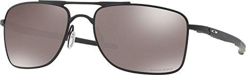 Oakley Men's Gauge 8 Polarized Iridium Rectangular Sunglasses, Matte Black, 62 - Hut Gauge