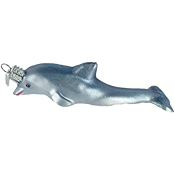 Old World Christmas Playful Dolphin Glass Blown Ornament