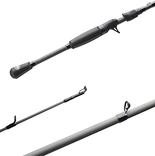 (Lews Fishing, TP1 Black Speed Stick 1 Piece Casting Rod, 7' Length, 12-25 lb Line Rating, 1/4-7/8 oz Lure Rating. Medium/Heavy Power )