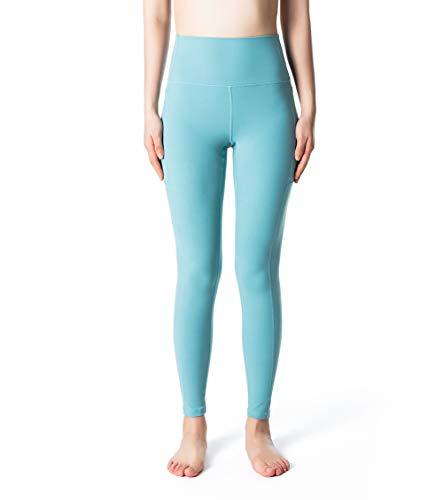 Fantasfit High Waist Yoga Pants with Pockets for Women Squat Proof Workout Leggings Tummy Control Trouser