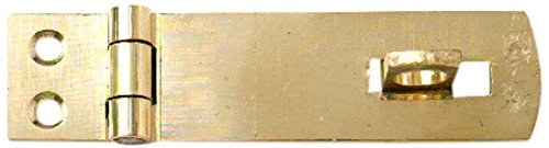 Bulk Hardware BH02551 Solid Brass Safety Hasp and Staple, 50mm (2 inch)