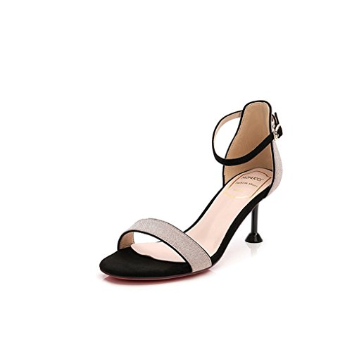 Shoes Inspired Heel Leopard Womens (Women's Heel Sandals Open Toe Ankle Strappy Formal Wedding Plated Stiletto Buckle Party Simple Shoes Pink)