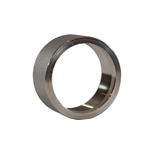 2'' in Inch NPT 316 Stainless Steel Threaded Half Coupling Weld On Pipe Tube Bung Fitting SS for Home Brewing, Automotive, Industrial, Aerospace
