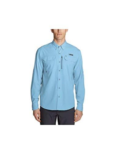 Eddie Bauer Men's Water Guide Long-Sleeve Shirt, SkyBlue Regular L
