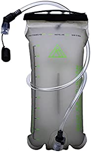 KIANUKO 2L Hydration Bladder - Water Reservoir   Leakproof   Fast-Flow, Soft-Bite Mouthpiece with Dust Cover  