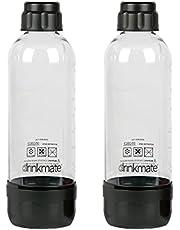 DrinkMate Black 1L Carbonating Bottles (2 Pack), 1 Liter