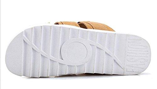 KISS GOLD(TM) Zapato Holgazán Zapatilla Causual Transpirable Verano Hombre Marrón-Modelo A