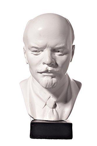 danila-souvenirs Soviet Russian USSR Leader Vladimir Lenin Marble Bust Statue Sculpture 5.1 White