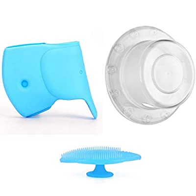 Zubree Baby Bath Faucet Cover + Trip Lever/Toggle Handle Safety Cover + Bonus Gift Silicone Baby Scrubber