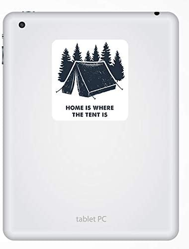 2 x 10cm Camping Tent Forest Fun Vinyl Stickers Sticker Luggage Travel #19261