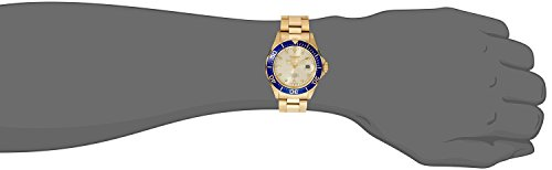 Invicta Men's 14124 Pro Diver Gold Dial 18k Gold Ion-Plated Stainless Steel Watch by Invicta (Image #3)