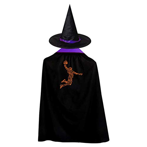 Mystery Basketball Player Children's Halloween Cloak Black Ponchos
