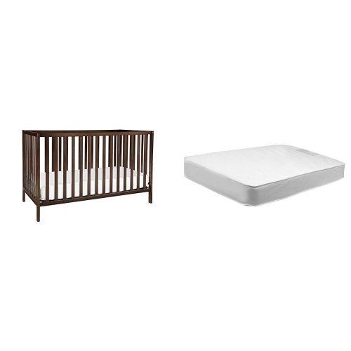 Union 4-in-1 Convertible Crib + Davinci Twilight Hypoallergenic Deluxe Crib Mattress, Espresso
