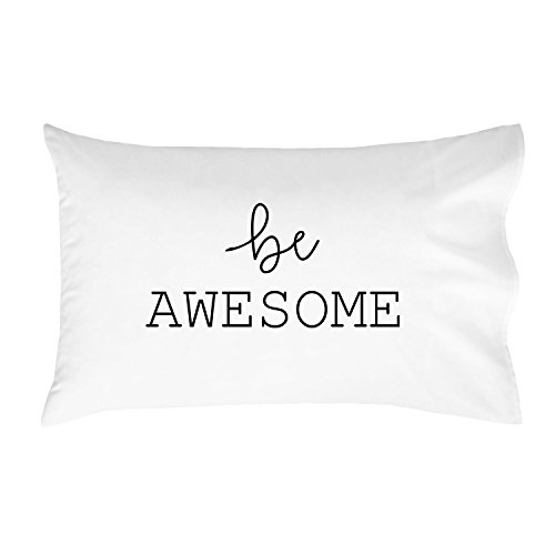 Oh, Susannah be Awesome Pillowcases - Standard Size Pillowcase(1 20x30 inch, Black) Graduation Gifts College Fun Pillowcases