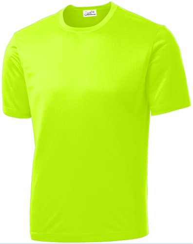 Joe's USA - All Sport Neon Color High Visibility Athletic T-Shirt, Neon Yellow, Large]()