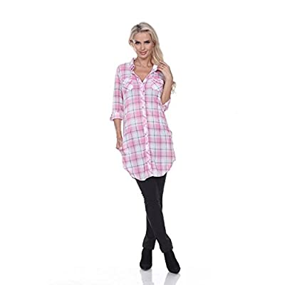 White Mark Piper' Button-Front Plaid Dress Shirt