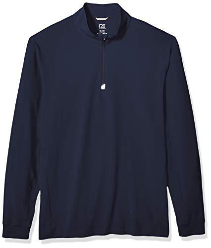 Cutter & Buck Men's Drytec UPF 50+ Double Knit Jersey Traverse Half Zip Pullover, Liberty Navy, XXX-Large
