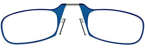 ThinOptics Reading Glasses + White Universal Pod Case | Classic Collection, Blue Frames, 1.00 Strength by ThinOptics (Image #2)
