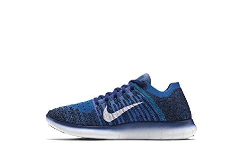 Nike Free RN Flyknit MTLC (GS) Blau