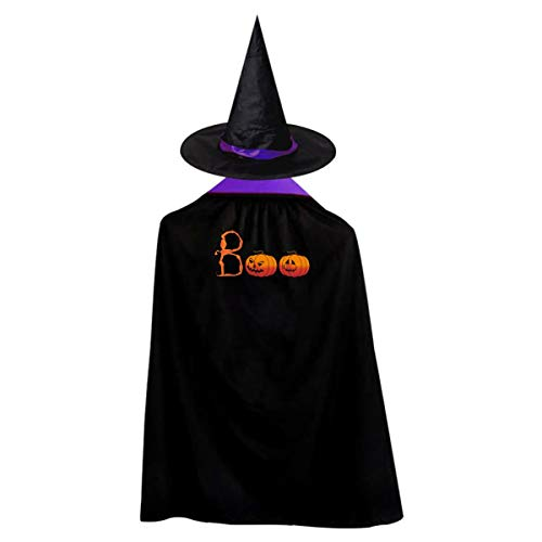 Halloween Children Costume On Halloween Day Wizard Witch Cloak Cape Robe And Hat Set -