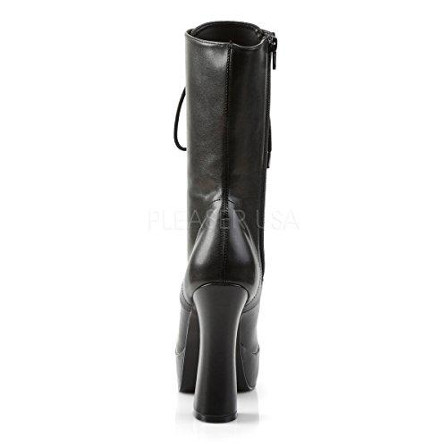 Pleaser ELECTRA-1020 Blk Faux Leather UK 4 (EU 37 )