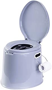 PLAYBERG Portable Indoor & Outdoor Travel Toilet for Camping and Hiking Indore 8 Gallon Waste Tank, Grey,