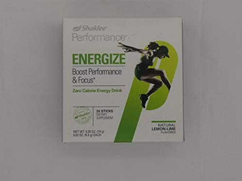 (Shaklee Performance Zero Calorie Energy Drink Lemon-Lime 20 Sticks)
