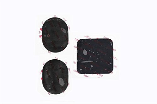 Gel Pads Replacement Unit Set Pack for All Abdominal Belts (black 1 set of 3)