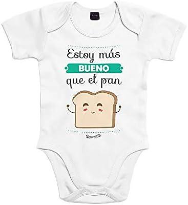 SUPERMOLON Body bebé algodón Estoy más bueno que el pan 3 meses ...