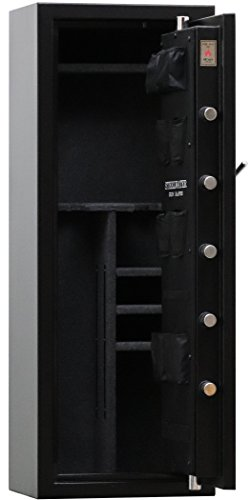 New and Improved Steelwater Heavy Duty 16 Long Gun Fire Protection for 60 Minutes AMSW592216-BLK by Steelwater Gun Safes (Image #3)