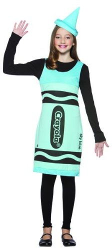 Teen Costumes (Rasta Imposta Crayola Tank Dress Teen Costume, Sky Blue, Teen 13-16)